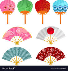 japanese fans japanese fans royalty free vector image vectorstock