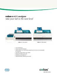 cobas e411 sell sheet calibration input output
