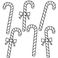 get this easy printable candy cane coloring page for children 73604