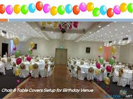 birthday chair cover chair table covers setup for special occasion