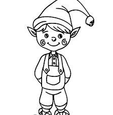 printable elf girl coloring for kids elves pages buddy2 791x1024 elf pdf on the shelf