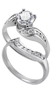 Wedding Ring Set by Engagement Rings With Matching Wedding Rings