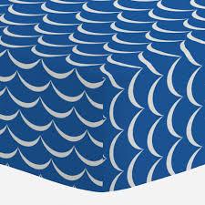ocean blue waves mini crib sheet carousel designs