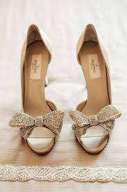 wedding shoes chagne stepping out in the best wedding shoes change bow heels