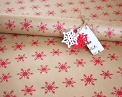 christmas kraft wrapping paper snowflake wrapping paper sheet printed christmas gift wrap