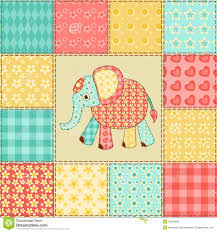 elephant patchwork pattern royalty free stock images image 34616909