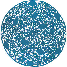 Round Indoor Outdoor Rug Artistic Weavers Cleome Bright Blue 8 Ft X 8 Ft Round Indoor