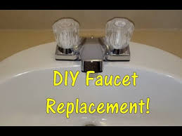 Removing Bathroom Faucet by Diy How To Replace A Bathroom Sink Faucet Remove U0026 Replace