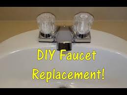 Bathroom Sink Faucet Repair by Diy How To Replace A Bathroom Sink Faucet Remove U0026 Replace