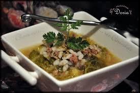 cuisine de doria carnaroli rice with sausage and green cabbage soupe de chair à