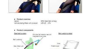 are lexus airbags being recalled lexus lfa to feature new u0027airbelt u0027 a seat belt airbag roadshow