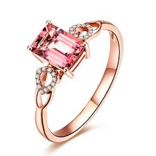 pink rings gold images Beautiful 1 carat pink sapphire and diamond engagement ring in jpg