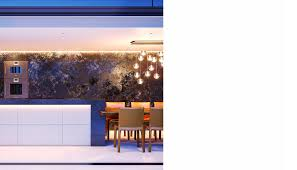lli design interior designer london modern kitchen detail with gaggenau appliances and boffi pendant lights