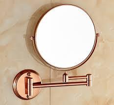 copper bathroom mirrors wholesale 8 inch double side rotating copper hotel bathroom mirror