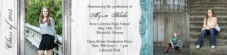 tri fold graduation announcements 5 7 tri fold photo graduation announcements photo card chef
