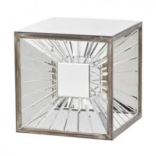 cube mirror side table blakely cube mirror side table