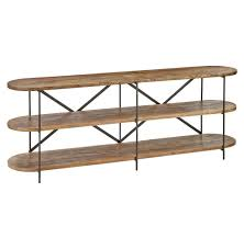 donovan rustic lodge mango wood 3 tier console table kathy kuo home