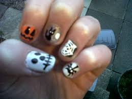 halloween nails beautify themselves with sweet nails