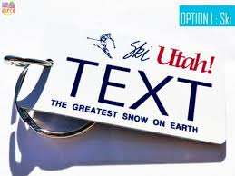 Utah gifts for people who travel images 35 best personalized state license plate keychains souvenirs jpg