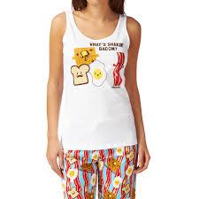 david and goliath shakin u0027 bacon pyjama top white free delivery