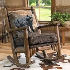 Black Bear Log Rocking Chair HomeRusticMy Dream Home - Bear furniture