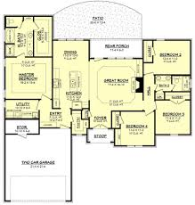 ad house plans baby nursery ranch style bungalow floor plans one level floor
