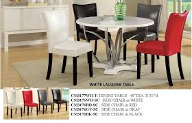 White Lacquer Dining Table by Black Or White Lacquer Table W 4 Chairs