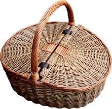 picnic baskets for two two tone lidded empty picnic basket koše a košíky