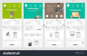 Business Templates For Pages Collection Website Page Templates Business Set Stock Vector