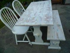shabby chic pine kitchen table and 4 chairs bench seat annie