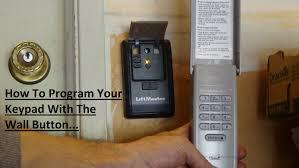 Liftmaster 8500 Garage Door Opener by Program Liftmaster 877lm Keypad Via Wall Button Youtube