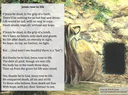 free easter poems jesus to a poem for easter the goodseed