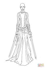 asajj ventress coloring free printable coloring pages