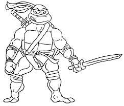 printable ninja turtle coloring pages