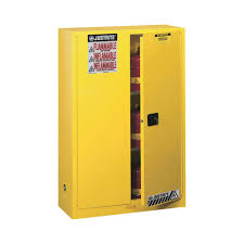 Yellow Flammable Storage Cabinet Justrite Safety Cabinet 45 Gallon Manual Sure Grip Ex