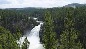 3 waterfalls of the grand canyon of yellowstone my yellowstone park