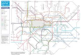 London Metro Map by The Flat Tyre Tube Map Suprageography