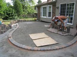 and paver simple outdoor patio design layout backyard patio