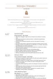 Call Center Sample Resume Ideas Collection Sample Resume For Call Center Agent In Resume