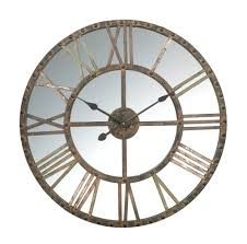 impressive large mirrored wall clock 81 extra large mirrored wall