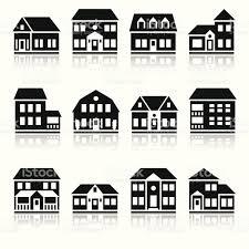 twelve house silhouettes stock vector art 153400430 istock