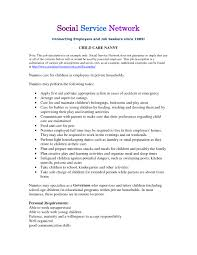 Resume Duties Examples by Nanny Job Description Example Website Resume Cover Letter