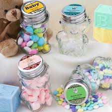 jar favors personalized teddy jar baby shower favors