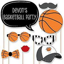 basketball party supplies custom nothin but net basketball photo booth props