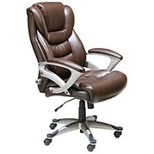 Officemax Chairs Serta Executive High Back Chair Brown By Office Depot U0026 Officemax