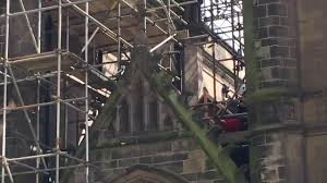 rescue launched after worker falls from scaffolding at