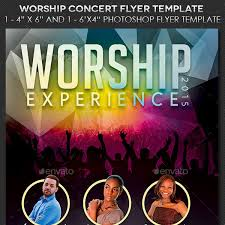 25 flyer templates for worship events and church