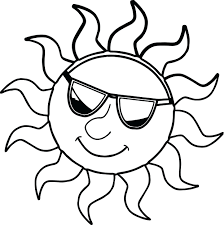 coloring pages day sunset free sunday book sun happy