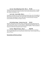Sous Chef Resume Jason Carlisle Knickerbocker Sous Chef Resume 2015