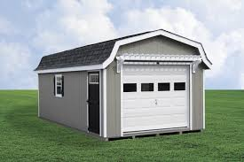 1 car pre fab garage with gambrel